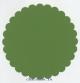 Бумага для скрапбукинга круглая 30,5 см с фигурным краем средняя волна, цвет зеленый
